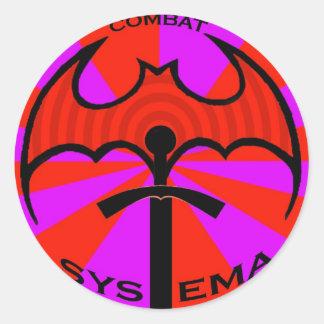 SYSTEMA LOGO CLASSIC ROUND STICKER