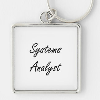 Systems Analyst Artistic Job Design Silver-Colored Square Keychain