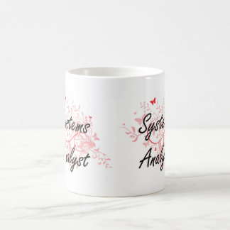 Systems Analyst Artistic Job Design with Butterfli Coffee Mug
