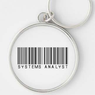 Systems Analyst Bar Code Keychain