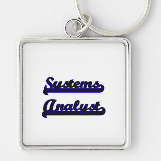 Systems Analyst Classic Job Design Silver-Colored Square Keychain