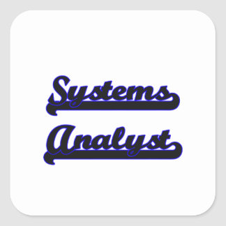 Systems Analyst Classic Job Design Square Sticker