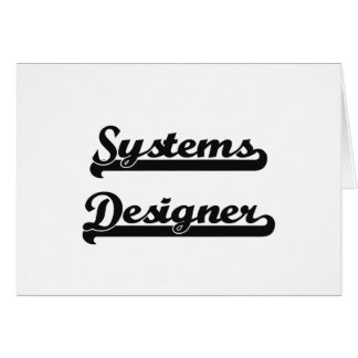 Systems Designer Classic Job Design Stationery Note Card