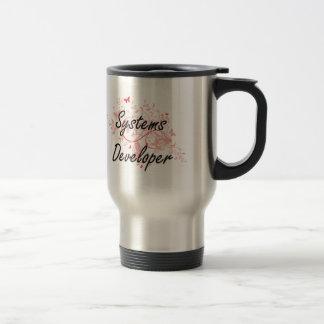 Systems Developer Artistic Job Design with Butterf Travel Mug