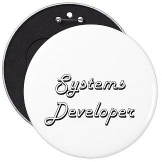 Systems Developer Classic Job Design 6 Inch Round Button