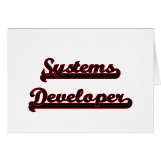 Systems Developer Classic Job Design Stationery Note Card