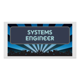 Systems Engineer Marquee Poster