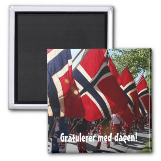 Syttende Mai 2 Inch Square Magnet