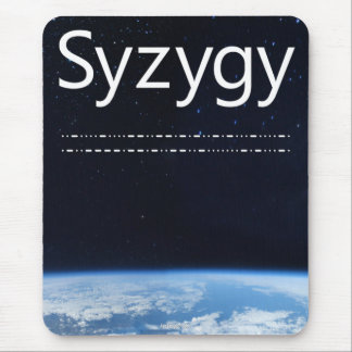 """Syzygy"" logo (1) vertical mouse pad"