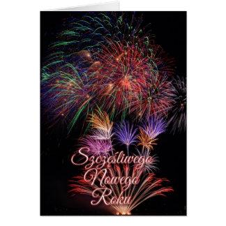 Szczęśliwego Nowego Roku or Happy New Year Card