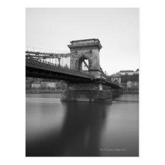 Szechenyi Chain Bridge and Danube Postcard