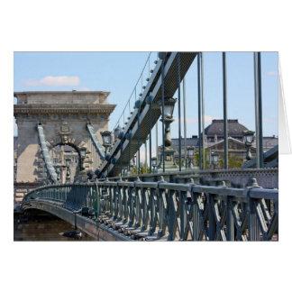 Szechenyi Chain Bridge, Budapest, Hungary Card