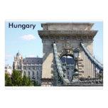 Szechenyi Chain Bridge, Budapest, Hungary, Hungary Personalized Invitation