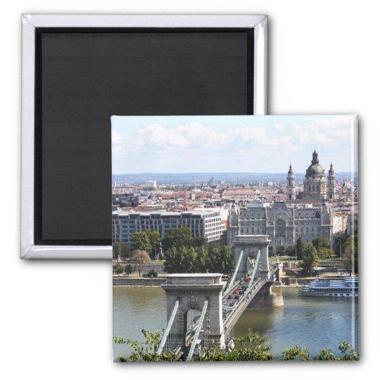 Szechenyi Chain Bridge, Budapest, Hungary Magnet