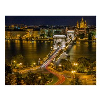 Széchenyi Chain Bridge Budapest, Hungary Postcard