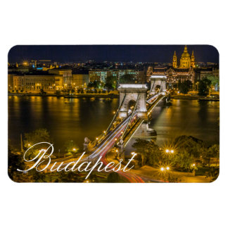 Széchenyi Chain Bridge Budapest, Hungary Rectangular Photo Magnet