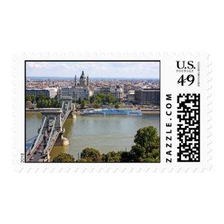 Szechenyi Chain Bridge, Budapest, Hungary Stamps