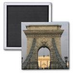 Szechenyi lanchid Szechenyi Chain Bridge), 2 Inch Square Magnet