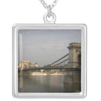 Szechenyi lanchid Szechenyi Chain Bridge), 2 Silver Plated Necklace