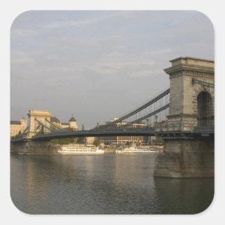 Szechenyi lanchid Szechenyi Chain Bridge), 2 Square Sticker