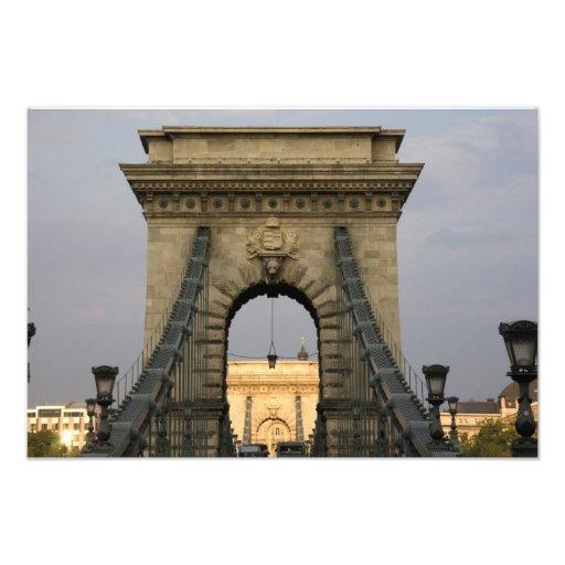 Szechenyi lanchid Szechenyi Chain Bridge), Photo Print