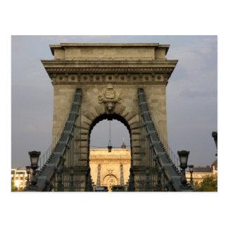 Szechenyi lanchid Szechenyi Chain Bridge), Postcard