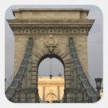 Szechenyi lanchid Szechenyi Chain Bridge), Square Sticker