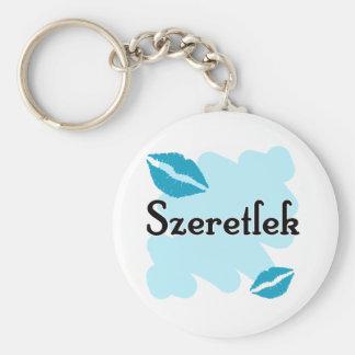 Szeretlek - Hungarian I love you Keychain