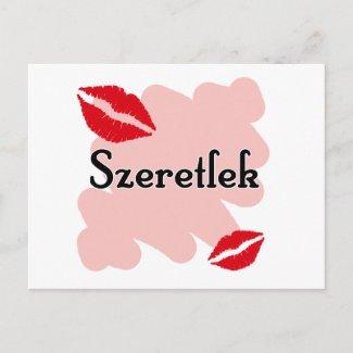 Szeretlek - Hungarian I love you postcard