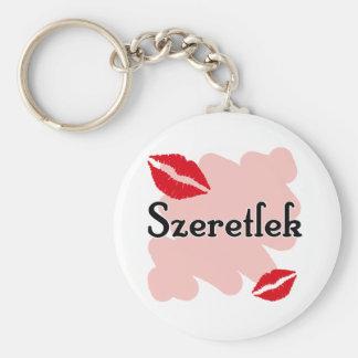 Szeretlek - húngaro te amo llavero redondo tipo pin