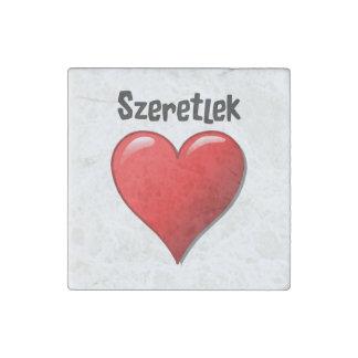 Szeretlek - te amo en húngaro imán de piedra