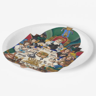 Szyk The Family at the Seder Paper Plate