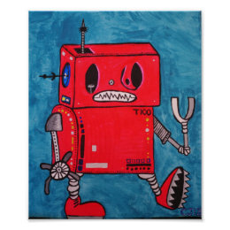T100 ...coolest robot in the galxy poster