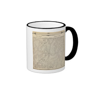 T1415S R3031E Tulare County Section Map Ringer Coffee Mug