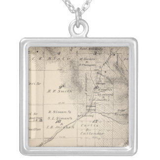 T15S R25E Tulare County Section Map Custom Jewelry