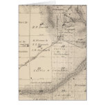 T15S R25E Tulare County Section Map Greeting Card
