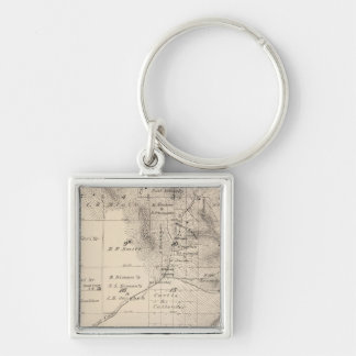 T15S R25E Tulare County Section Map Keychain