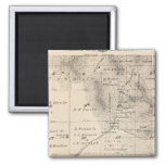 T15S R25E Tulare County Section Map 2 Inch Square Magnet