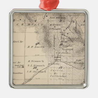 T15S R25E Tulare County Section Map Metal Ornament