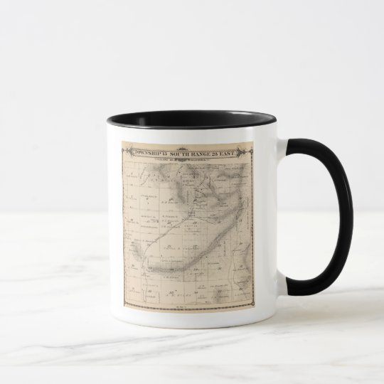T15S R25E Tulare County Section Map Mug
