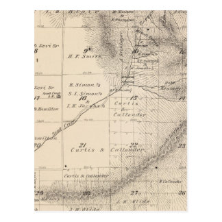 T15S R25E Tulare County Section Map Post Card