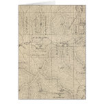 T15S R27E Tulare County Section Map Greeting Card