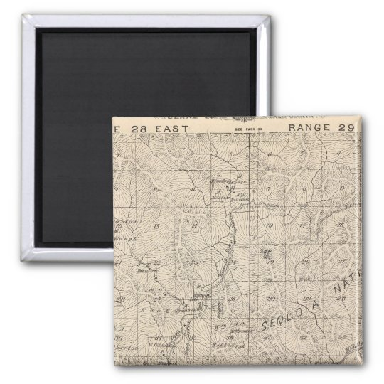 T1617S R2829E Tulare County Section Map Magnet
