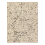 T1617S R2829E Tulare County Section Map Postcards