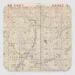 T1617S R2829E Tulare County Section Map Square Sticker