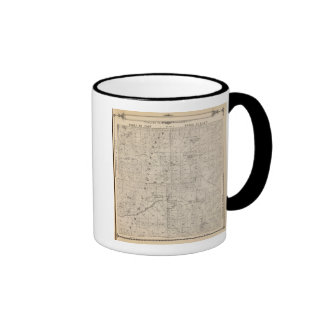 T1617S R3031E Tulare County Section Map Ringer Coffee Mug
