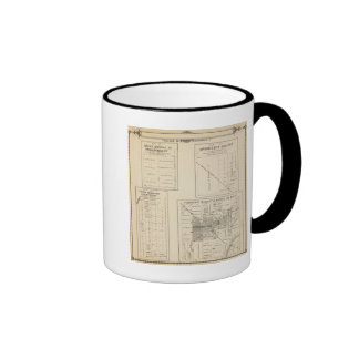 T16S R22E Tulare County Section Map Ringer Coffee Mug