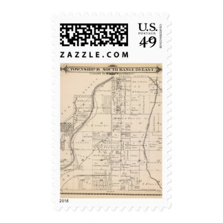 T16S R23E Tulare County Section Map Stamp