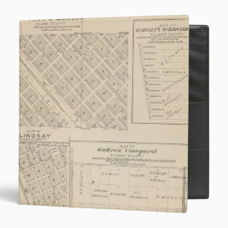 T16S R24E Tulare County Section Map Binder