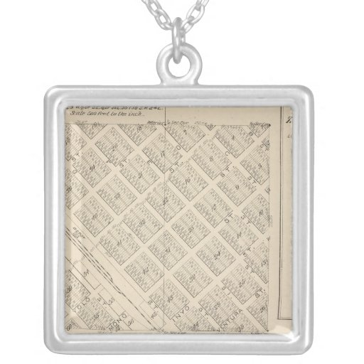 T16S R24E Tulare County Section Map Custom Jewelry